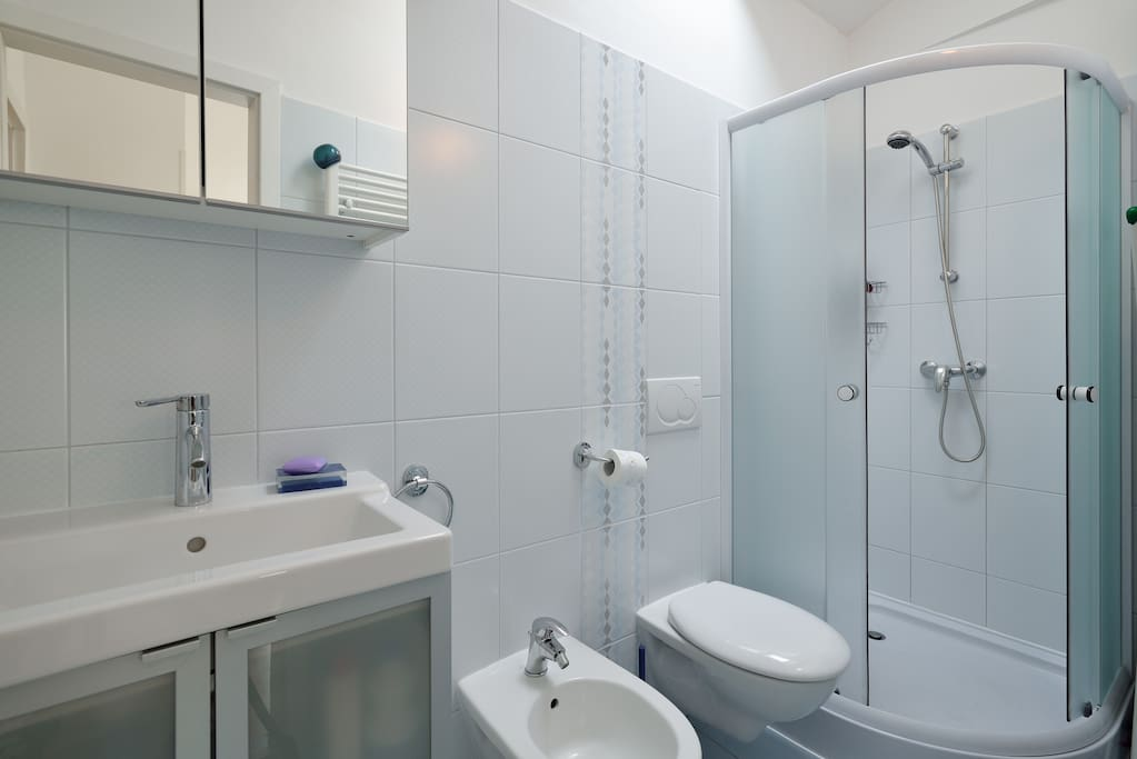 Bright and Clean Bathroom with everything You need.