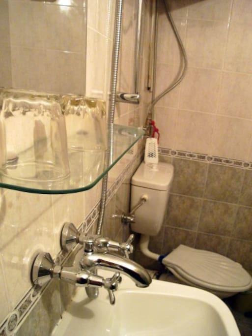 Душ и туалет в апартаменте