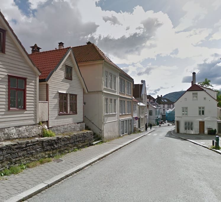 Our street with houses dating back to around 1750.