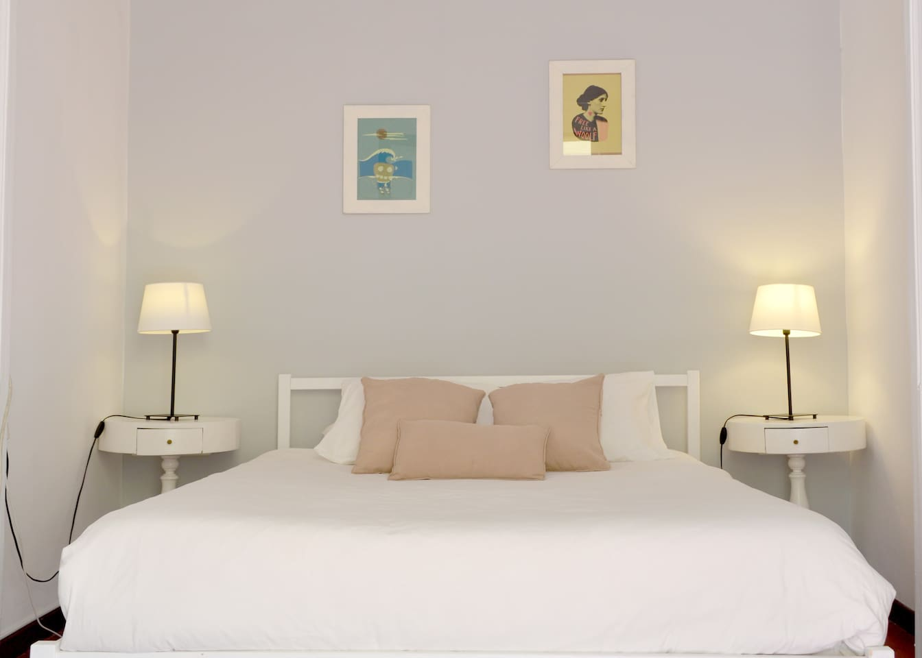 Lovely bedroom with double bed