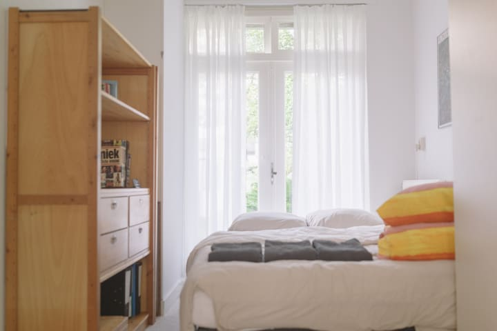 Bedroom with comfortable double bed which is 210 cm long.