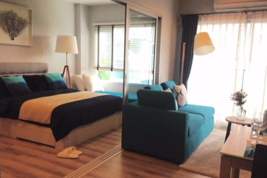 Beautifully arrange bed room