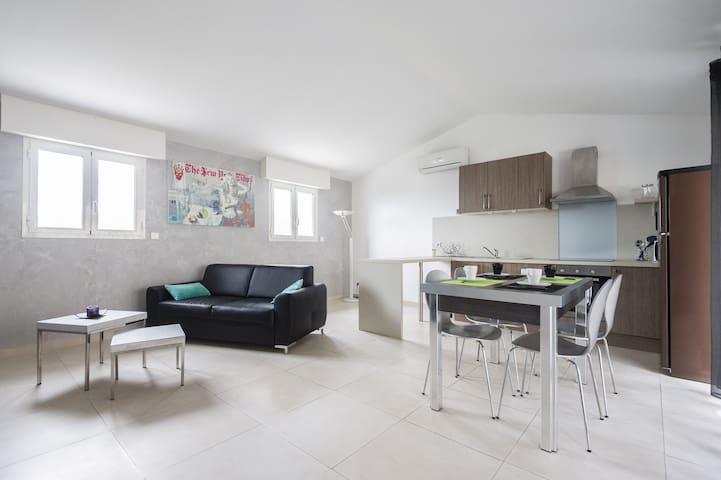 Appartement calme, hauteurs de Nice - Saint-André-de-la-Roche - Apartamento