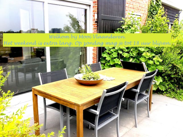 Terrace/garden/near sea/3 bedrooms - Schoondijke - Apartment