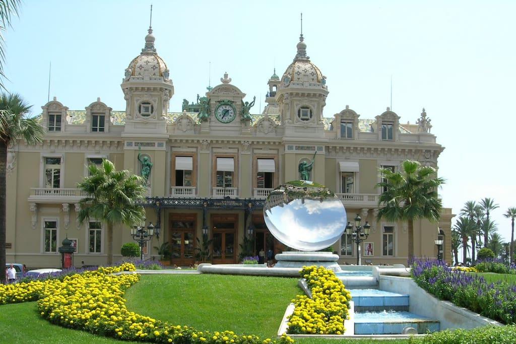 Vue du Casino de Monte Carlo