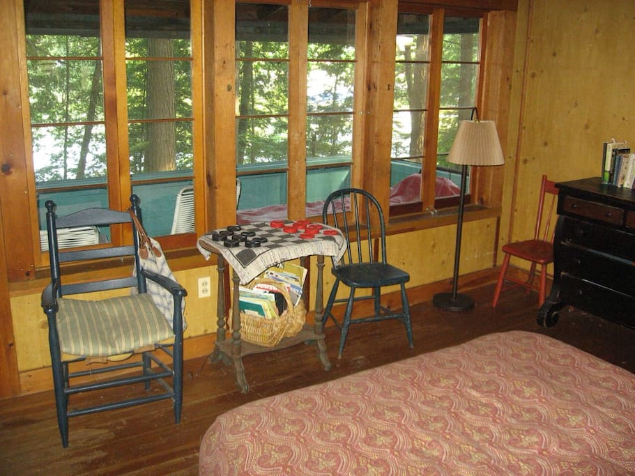 Inside the cottage looking out