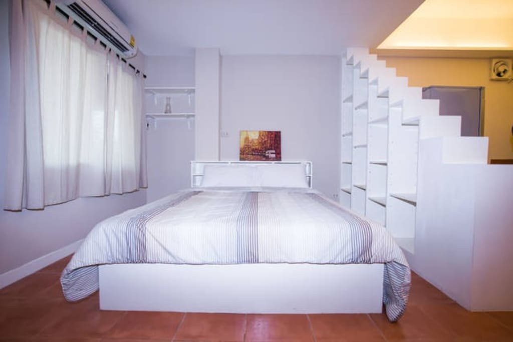 3rd floor bed with private bathroom