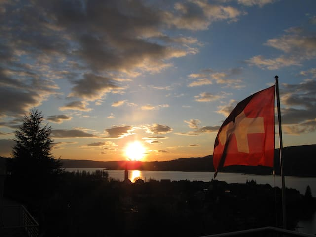 Panoramic view over Lake Constance - Steckborn