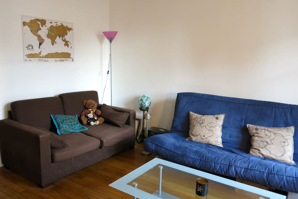 Double living room (one sofa and one sofa bed)