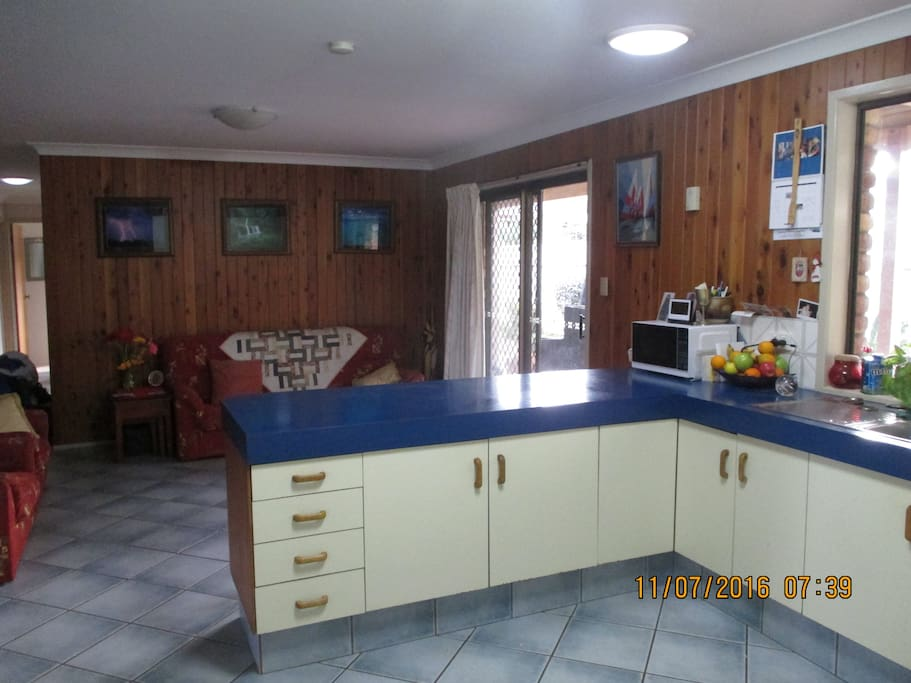 Spacious living and kitchen