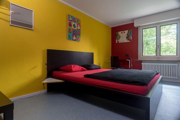 Cooles Doppel/Zweibettzimmer - Zürich - Huis