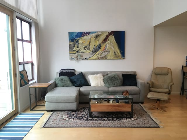 Central, open loft with tons of light