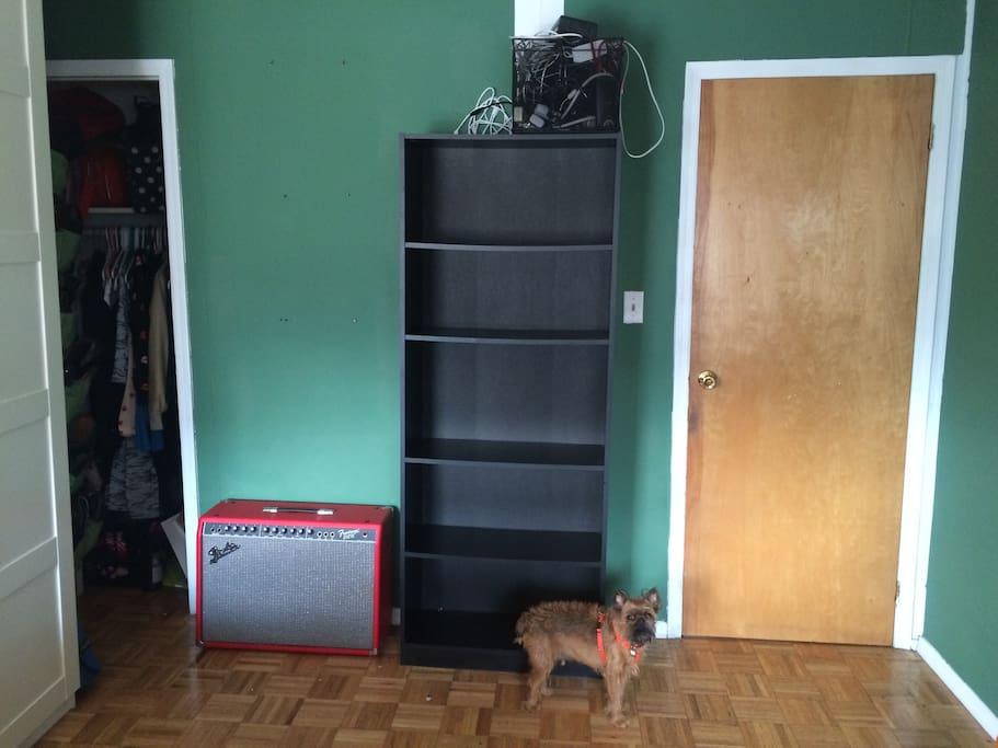 Plenty of book shelf storage.