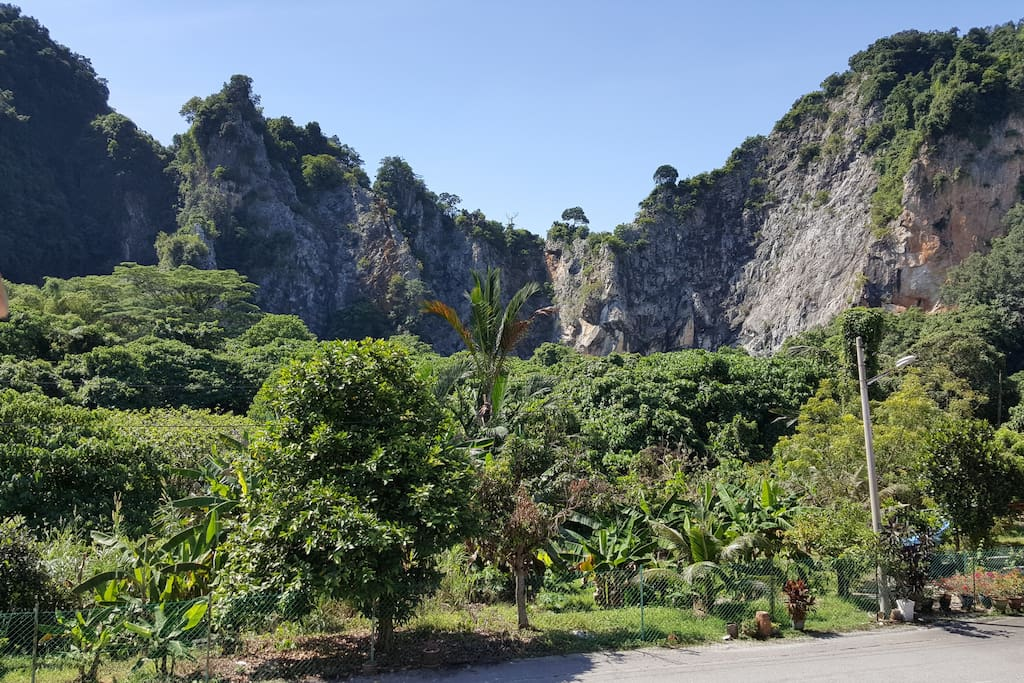 Right in front is limestone hills formed millions of years ago.