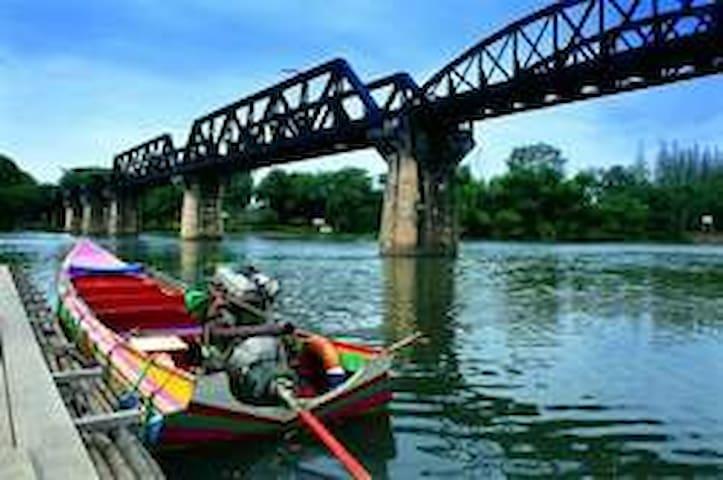 River Kwai Bridge-Bogie Train - Thung Thong - Apartamento