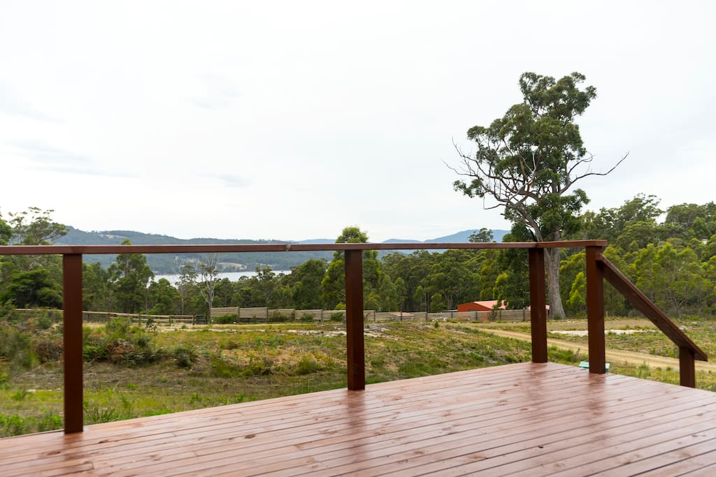Huon River view from the front deck.