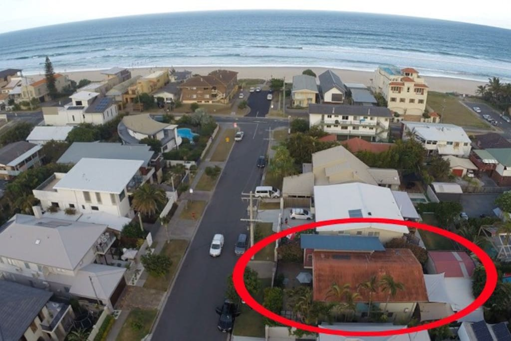 Aerial view of the house location