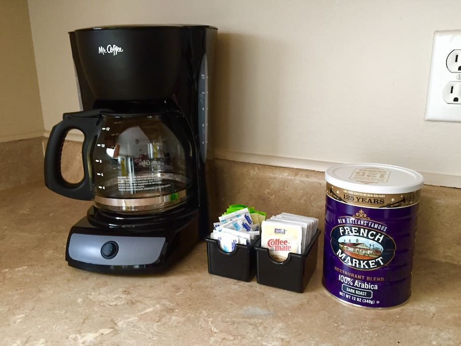 Enjoy our complementary coffee/tea station to get your day going.