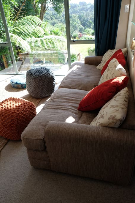 The comfy couch which can sleep one