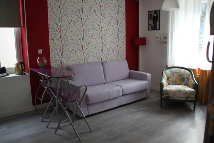 Studio spacieux au cœur de Montbazon - Montbazon - Apartamento