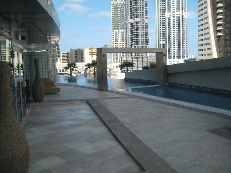 Separate shallow children's pool area.