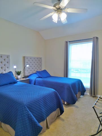 This upstairs bedroom is perfect for the kiddos.