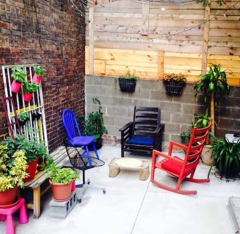 Williamsburg Apt. w/ private patio