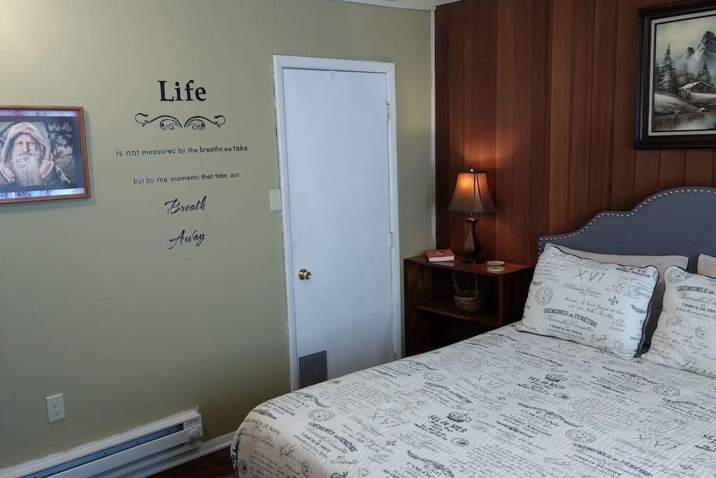 Entrance to bath off Master bedroom