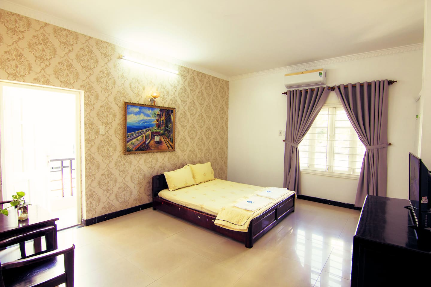 Bedroom 203 with a comfortable double bed for great night's sleep