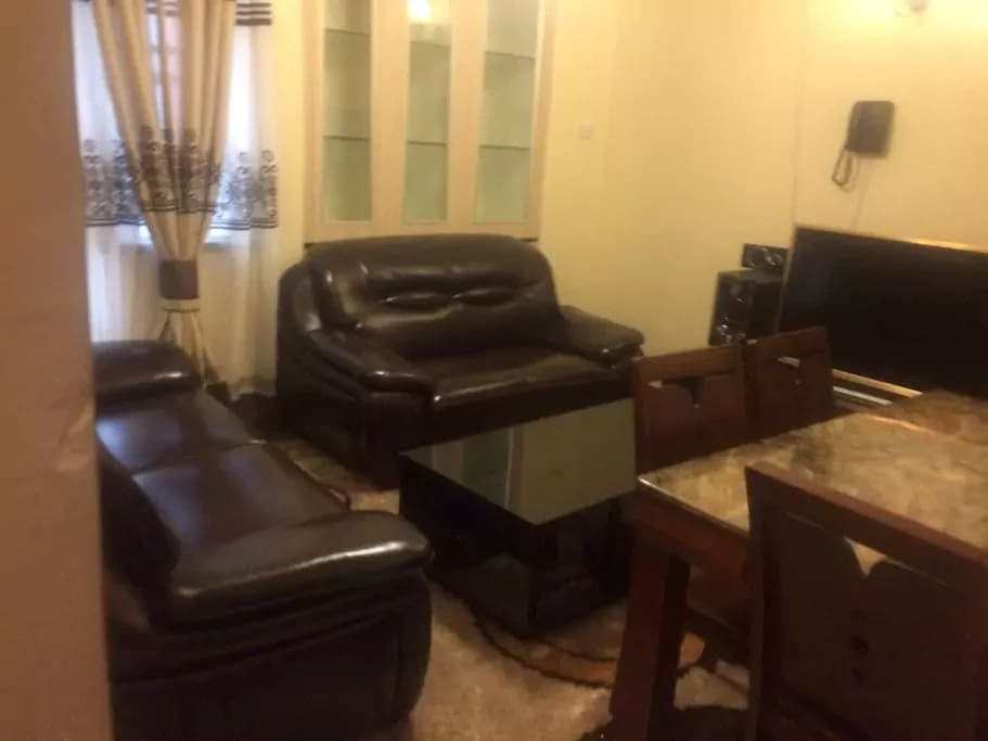 Living room with TV and Table and Sofa