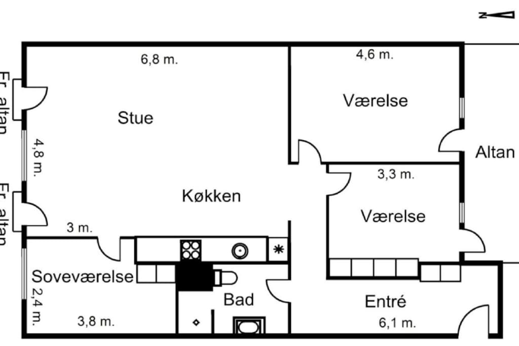 Apartment plan view