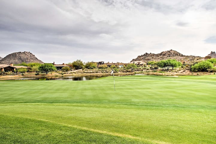 The beautifully landscaped golf course is right in your backyard!