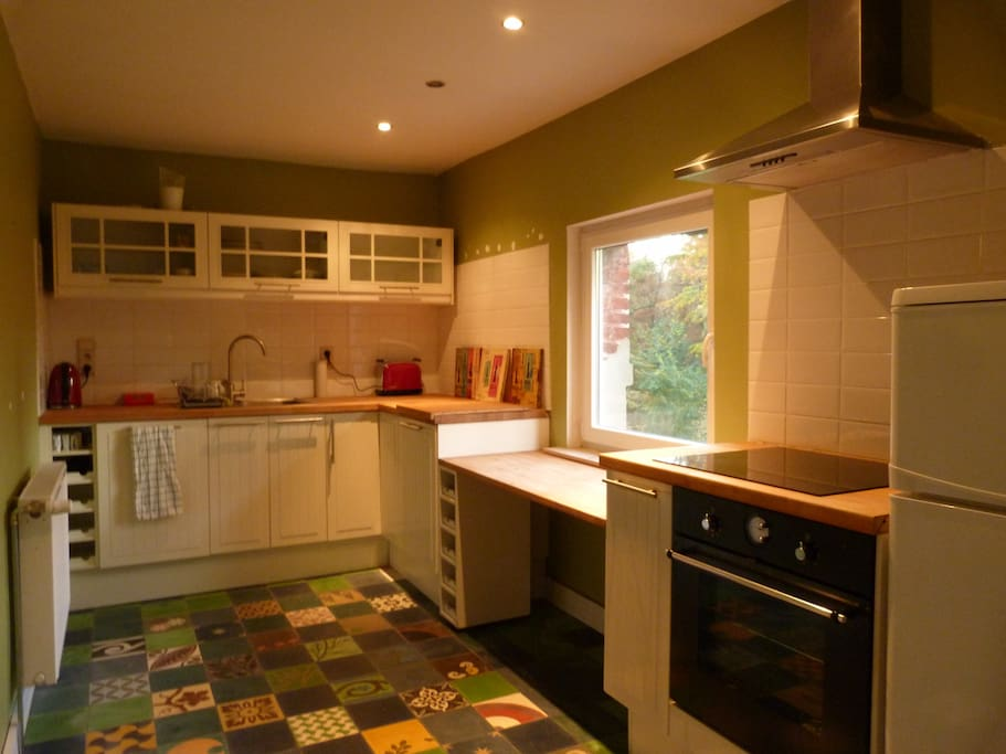 A self-contained kitchen.