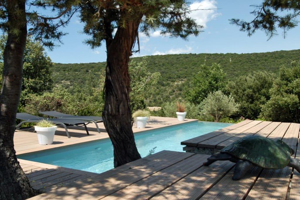 Chambre d 39 h tes avec piscine guesthouses for rent in saint maurice d 39 ibie rh ne alpes france - Chambre d hote avec piscine ...