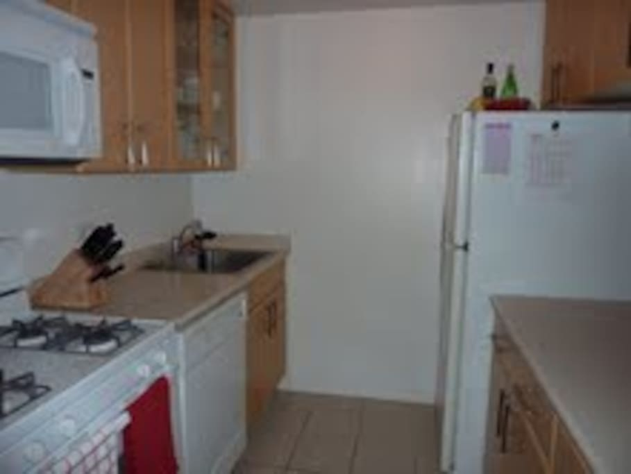 Fully-equipped kitchen, including dishwasher and microwaver