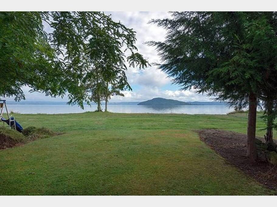 Lawn to lake front yard
