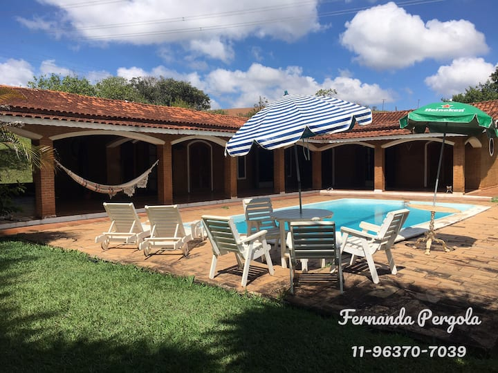Sítio Piscina Campo e 4 lagos - 2 a 8 pessoas