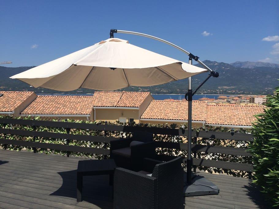 terrasse. Vue mer