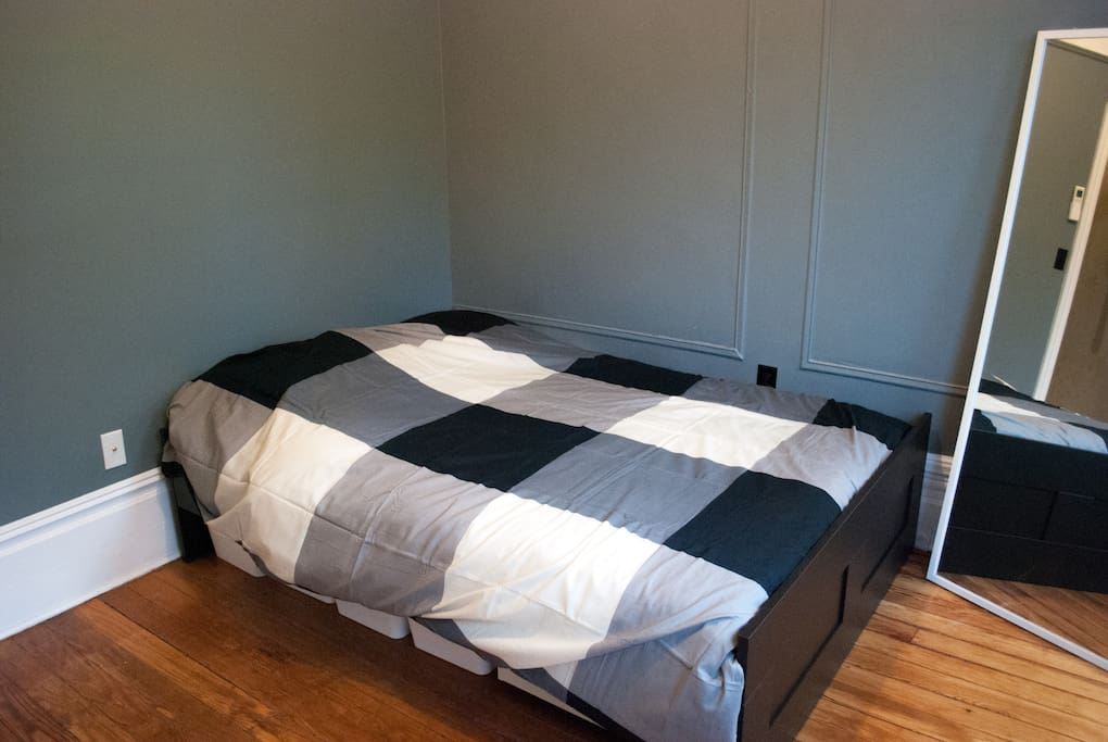 Brand new full size bed.