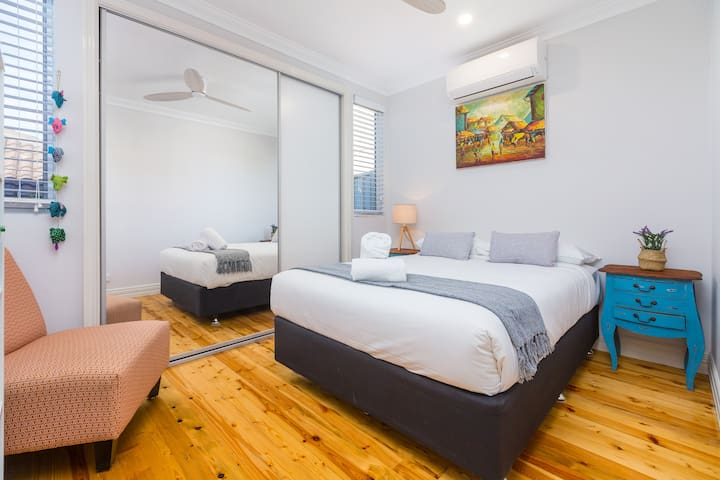 Bedroom 2, complete with double bed, & robe for your belongings.