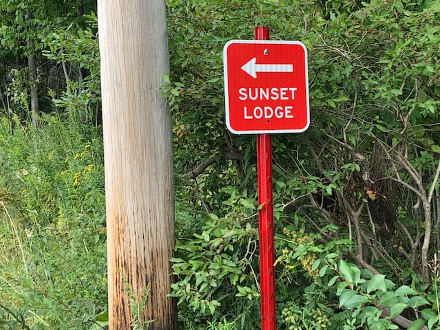 The Sunset Lodge  Rails for Trails