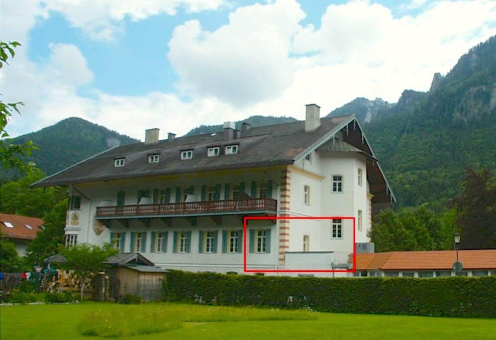 Appartment mit Terrasse, ruhig gelegen auf der Rückseite s. Rahmen