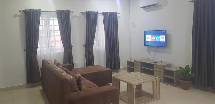 New 2 bedroom flat close to airport and city mall