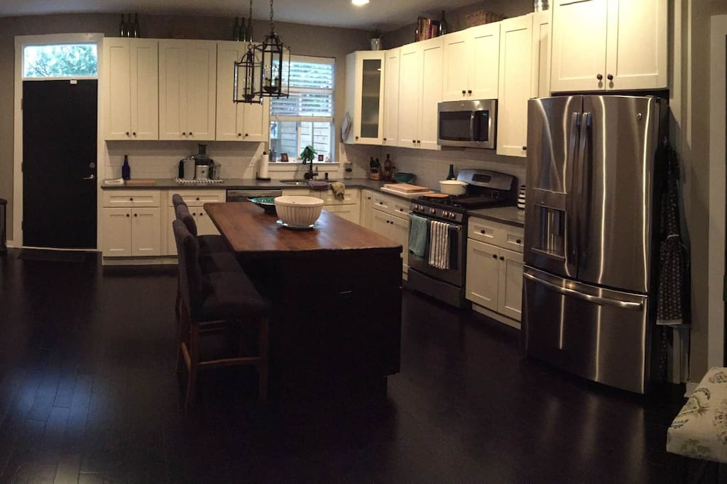 Beautiful kitchen with brand new appliances and large island.