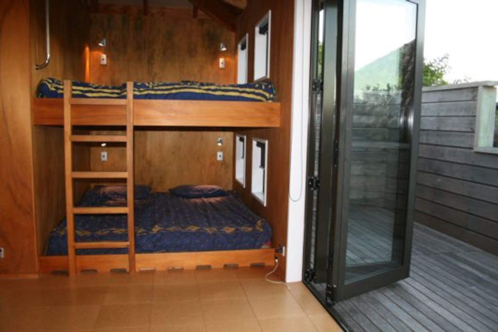 Large bunk room with deck and two King Bunks