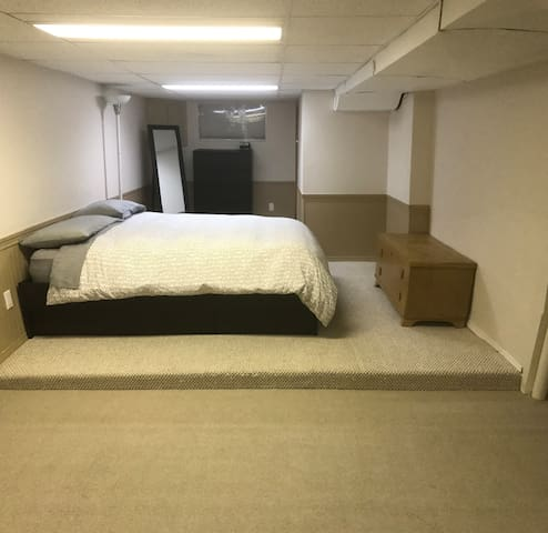 Main sleeping space with Queen bed