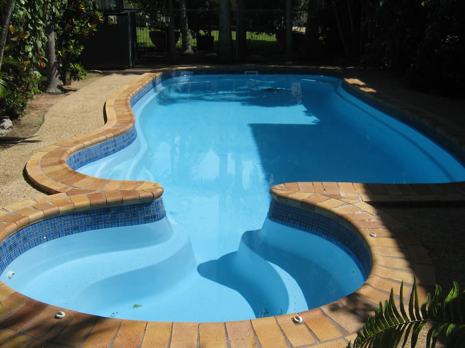 Swimming pool located behind 4 bedroom house