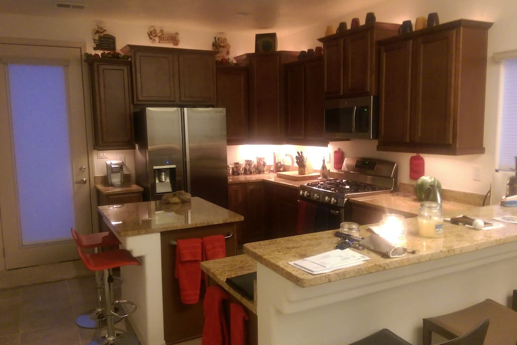Kitchen with Island accent Lighting
