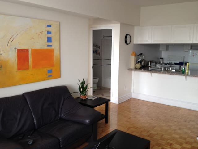 Large One Bedroom Apartment with Balcony and Views - Westmount - Huoneisto