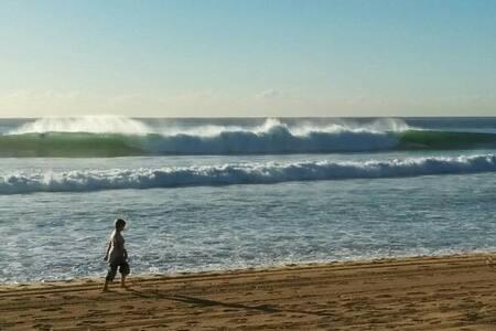 Sunny room, sea views, great surf